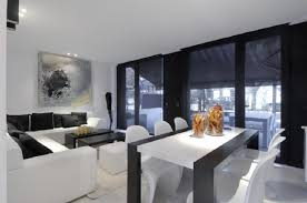 Living Room With Dining Table Interior Interior Living And Ideas With White Wall Color And