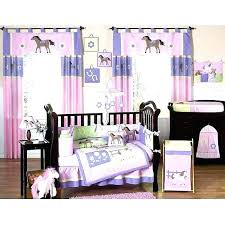 purple babies room nursery bedding pony 9 piece crib set baby pink sets p purple erfly crib bedding baby sets and grey
