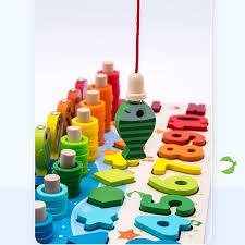 Zabawki drewniane Montessori tablica edukacyjna dla dzieci matematyka wędkarstwo przedszkole dla dzieci Montessori liczenie geometrii zabawki dla dzieci    - AliExpress