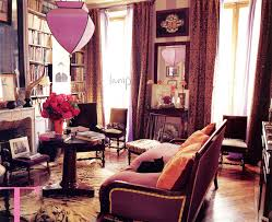 bohemian style living room. Bohemian Style Living Room In A Paris Apartment Shades Of Purple.