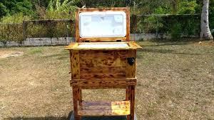 outdoor wooden ice chest wooden pallet outdoor cooler outdoor wooden ice chest plans