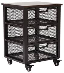 office rolling cart. plain cart garret black 3 drawer rolling cart with espresso wood top fully assembled  industrial inside office d