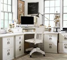 bedford smart technology corner desk hutch antique white pottery barn