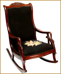 antique rocking chair best of gooseneck carved identification with needlepoint up