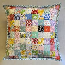 135 best Quilted Pillows images on Pinterest | Patchwork cushion ... & Postage Stamp Quilt Pillow Adamdwight.com