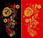 Шаблоны трафареты хохломской росписи