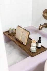 diy vintage inspired wooden bath tray via hunker com