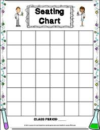 Class 1 A Seating Chart Seating Chart And Substitute Feedback Form Classroom Forms Science Version 1