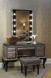 Elegant Lighting Mirrored Furniture Vanity Tables Mirrors Elegant Makeup Table Set Home