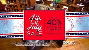 2017 Fourth of July Sale at Doerr Furniture