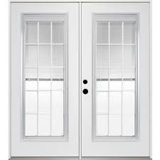 patio doors with blinds between the glass: lowes reliabilt  in dual pane blinds between the glass steel french inswing
