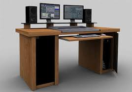 recording studio furniture oak mixing editing desk with built in racks