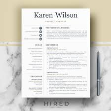 Etsy Resume Template Fascinating Professional Resume Template For Word Pages Professional Etsy