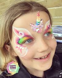 Henna Face Paint Designs Handmade Unicorn Bling By Happy Henna Bling Face Painting