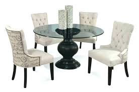 round glass dining table set for 4 chairs