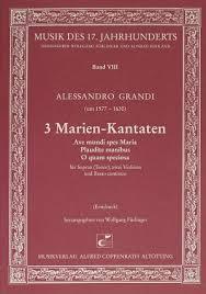 Grandi: 3 Marien-Kantaten full score   Carus-Verlag