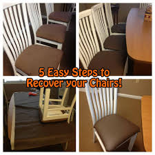 easy diy chair recover 5 easy steps to recover your chairs