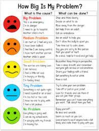 Big Chart How Big Is My Problem Chart And Worksheet Social Skills