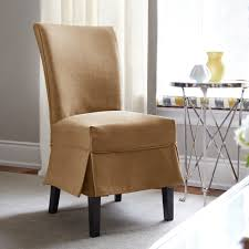dining room contemporary brown fabric dining room chair slipcovers with half skirt which mixed with