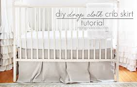 diy drop cloth crib skirt