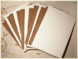 15 corrugated cardboard sheets mixed white and kraft