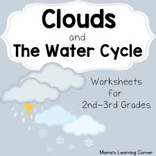 Small Picture Clouds and The Water Cycle Worksheets Mamas Learning Corner
