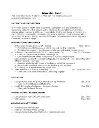 Patient Care Technician Resume With No Experience Patient Care Technician Resume With No Experience 14435 Birdsforbulbs