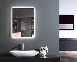 Tolle Mit Beleuchtung Badezimmer Spiegel Viereck Modern Wei C3 9f