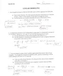 linear modeling answers