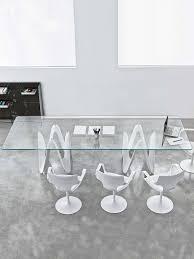 large glass dining table  lambda  glassdomain