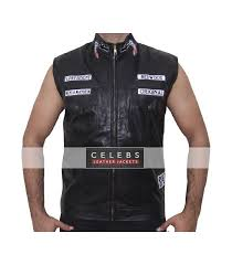 leather vest with patches charlie