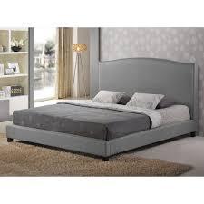 Baxton Studio Aisling Upholstered Platform Bed  HayneedleLinen Platform Bed