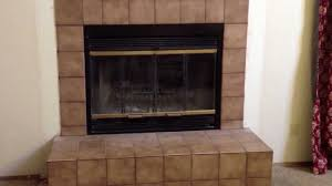 glass unique ideas installing fireplace doors before and after how to replace an inefficient wood burning