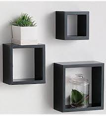 Matte Black Floating Shelves