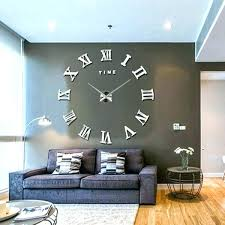 huge wall clock large designer wall clocks new modern mirror large wall clock surface sticker home huge wall clock