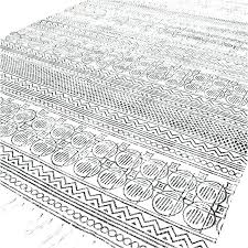 flat weave area rugs cotton rug white and black block print accent woven 3 x 5