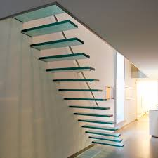 Image result for glass stairs
