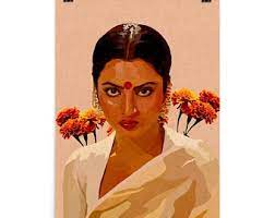 Did you scroll all this way to get facts about hindi wall art? Bollywood Art Etsy