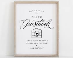 photo guest sign in book photo guest book etsy