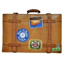 vintage luggage. vintage suitcase - monte carlo and ny luggage w