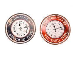 Reloj De Pared De Metal Envejecido 40 Cm
