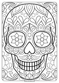 free printable sugar skull coloring page