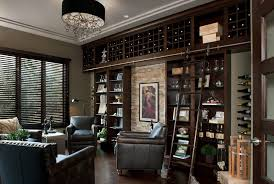 detroit built in wine with contemporary ice tools and buckets cellar glass dark wood bookcase