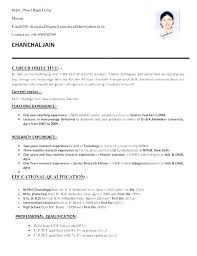 Career Objective For Resume Samples Resume Bank