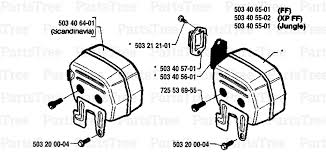 husqvarna 268 husqvarna chainsaw 1987 05 muffler diagram and 012345678910