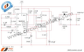 simple pwm inverter circuit diagram using pwm chip sg circuit schematic of pwm inverter