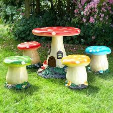 childrens mushroom garden furniture 4
