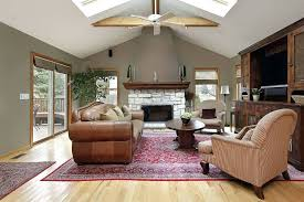vaulted ceiling fireplace white vaulted ceiling stands over this sage colored living room with bright natural vaulted ceiling fireplace