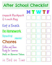 Checklist For School Dry Erase After School Checklist Everything Kids And Family