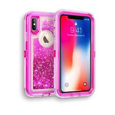 Design Case Hp Iphone Xr Glitter Obox Hybrid Cover Case Hyb26 Hot Pink